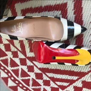 Christian Louboutin striped heels